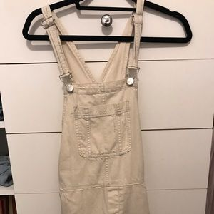 Cream colored overalls